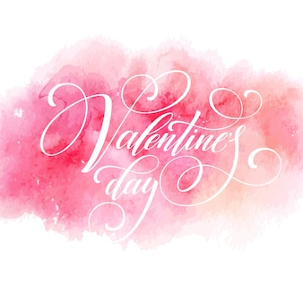 Valentines day greeting card with lettering