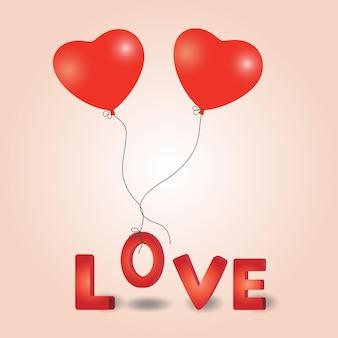 Valentines day heart balloon.