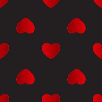 バレンタインデーのハートのシームレスなパターンの背景。