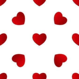 Valentines day heart seamless pattern background.