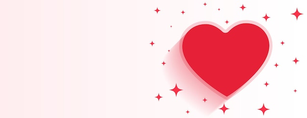 Valentines day heart sparkling banner with text space