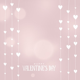 Valentines day hearts background in soft colors
