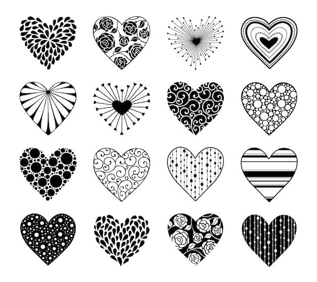 Valentines day hearts set