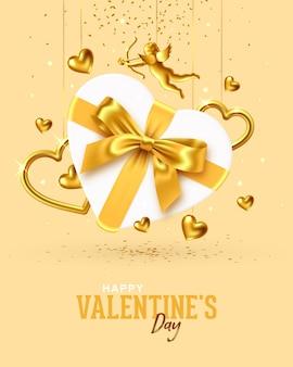 バレンタインデーのホリデーギフトカードのデザイン