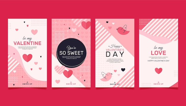 Valentines day instagram stories collection
