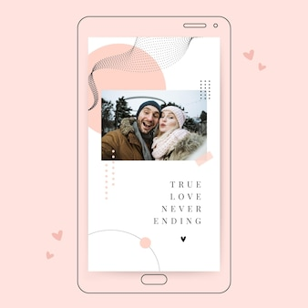 Valentines day instagram story template