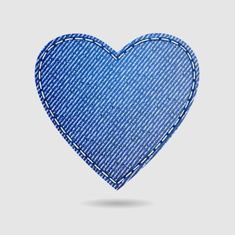 Valentines day isolated denim heart