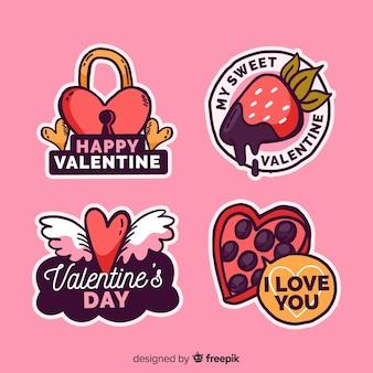 Valentines day label collectio
