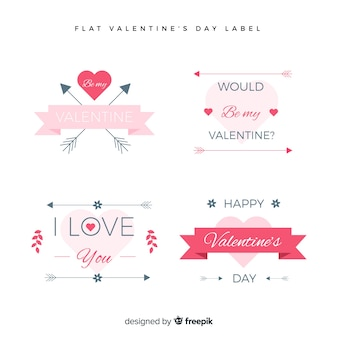 Valentines day label collectio