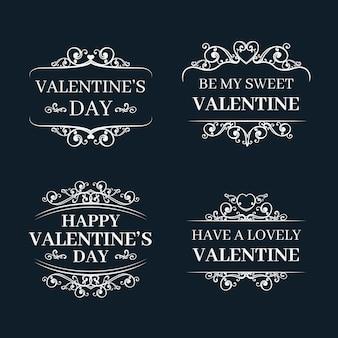 バレンタインデーラベルコレクション