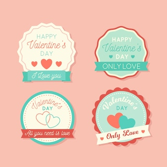 Valentines day label collection