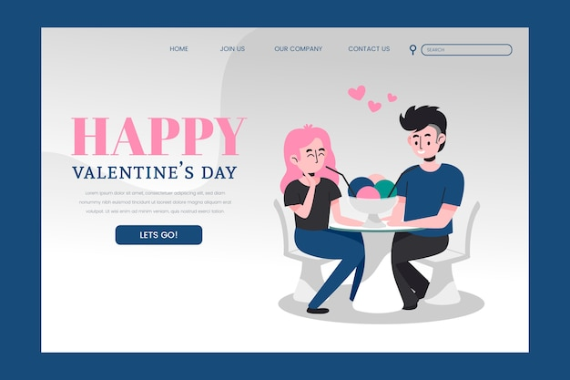 Valentines day landing page