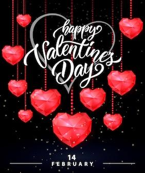 День святого валентина с надписью ruby hearts