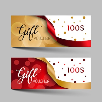 Valentines day luxury gift vouchers set.
