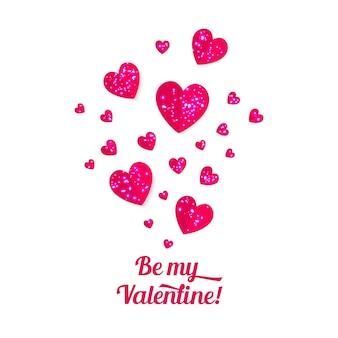 バレンタインデーの紙の心