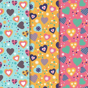 Valentines day pattern colection