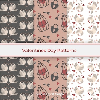 Valentines day pattern collection theme