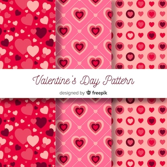 Valentines day pattern collection