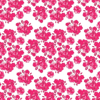 Valentines day pattern with  japanese cherry blossom