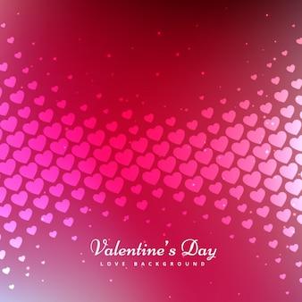 バレンタインの日、ピンクの背景