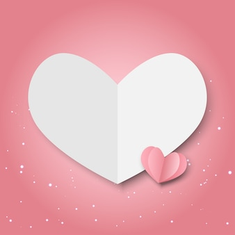 День святого валентина розовые бумажные сердечки