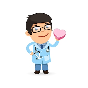 Valentines day poster with doctor