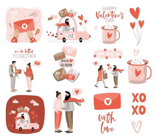 バレンタインデーのロマンチックな要素。