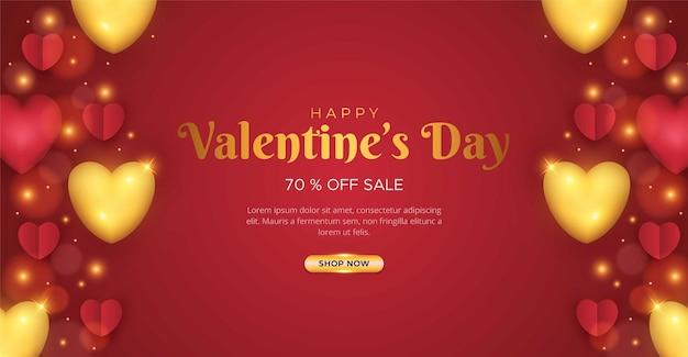 Valentines day sale background design
