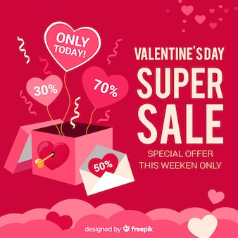 Valentines day sale background