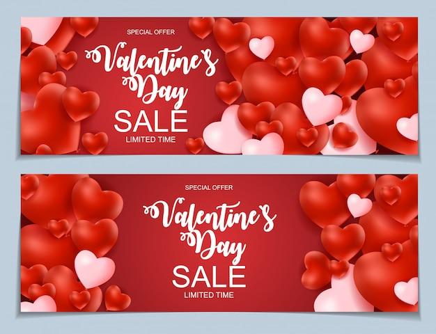 Valentines day sale banner