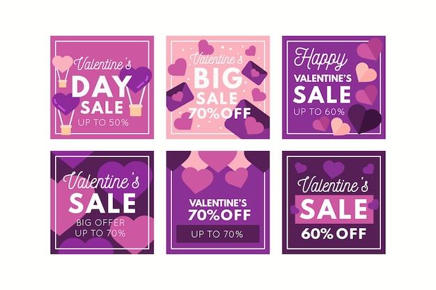Valentines day sale instagram post