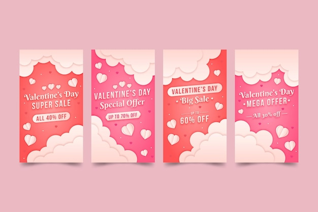 Valentines day sale instagram stories collection