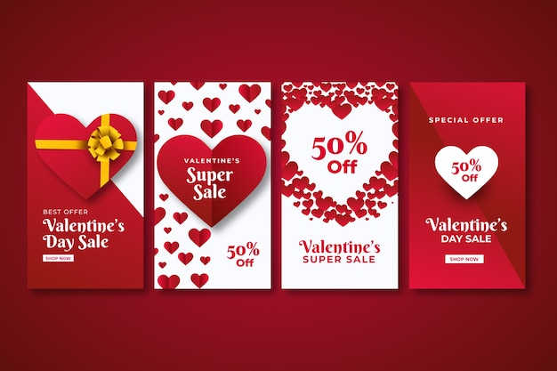 Valentines day sale instagram story collection