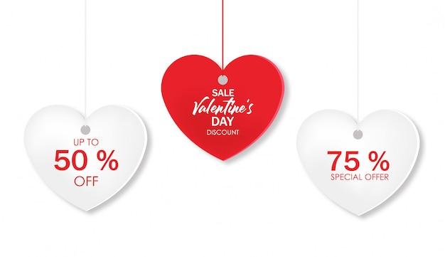 День святого валентина распродажа, любовь, магазинная карточка, романтическое бумажное сердце, специальные скидки, супер распродажа, день любви