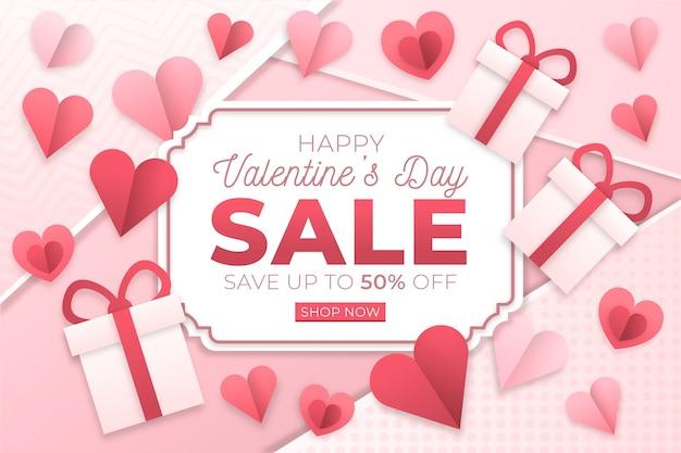 Vendita di san valentino in stile carta