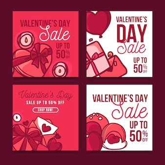 Valentines day sale post collection