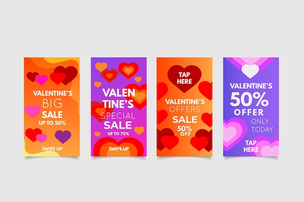 Valentines day sale story collection concept