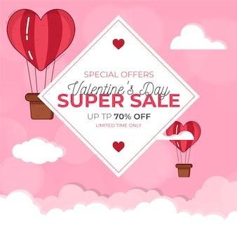 Disegno di tema di vendita di san valentino