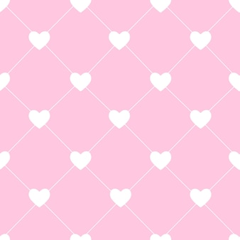 Valentines day seamless hearts pattern vector illustration. eps10