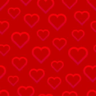 心とバレンタインデーのシームレスなパターン