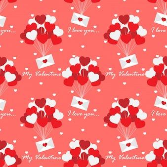 Valentines day seamless pattern.
