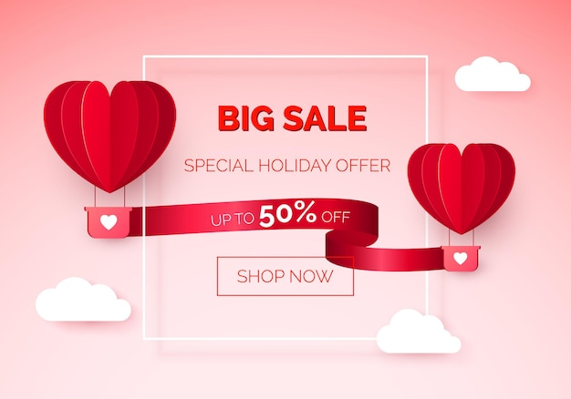Valentines day seasonal sale