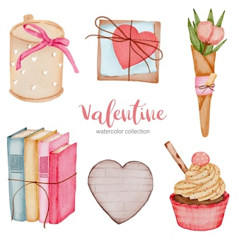Valentines day set elements