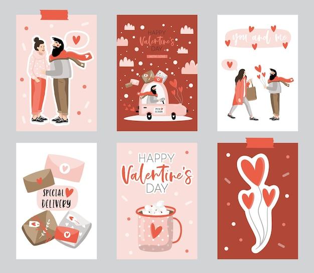 グリーティングカードで設定されたバレンタインデー