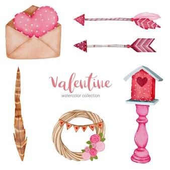 愛の要素で設定されたバレンタインデー