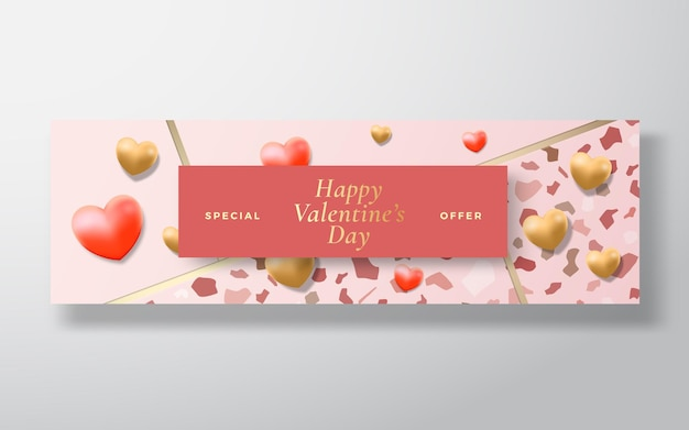 День святого валентина специальное предложение продажа абстрактных векторных поздравительных открыток или праздничных открыток
