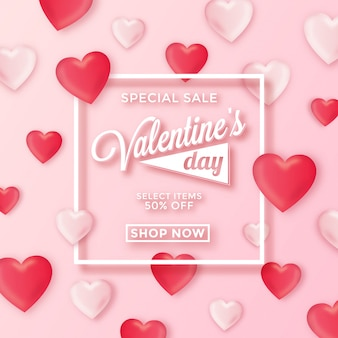Valentines day special sale background