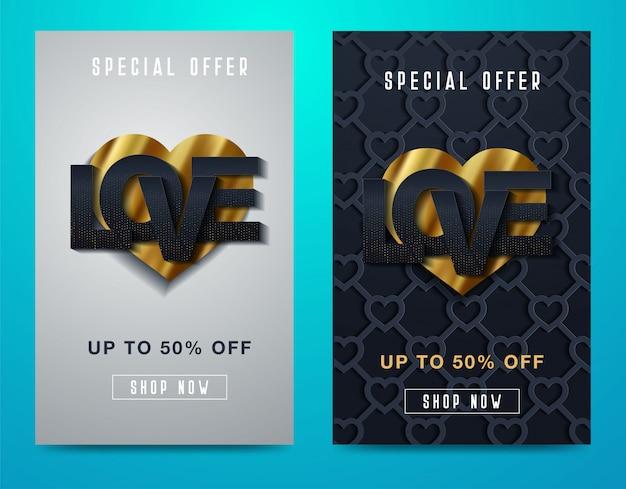 Valentines day super sale background