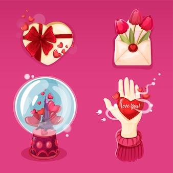 Коллекция символов дня святого валентина