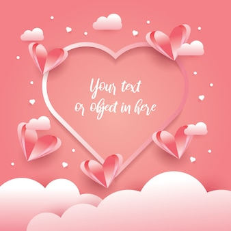 Valentines day vector design concept